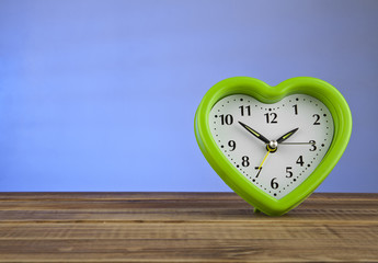clock by a heart