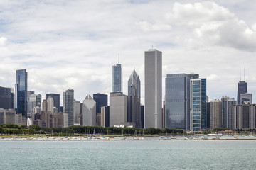 Chicago skyline, Illinois.