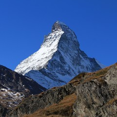 Snow capped Matterhorn