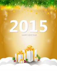 Happy new year greeting card in vectors