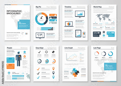 Infographic brochure elements for business data visualization - 74183112
