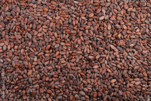 Fotobehang Aromatische cocoa beans background