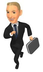 businessman run render illustration