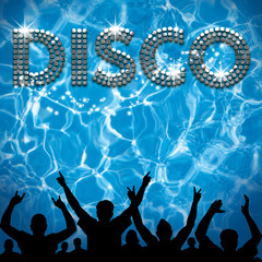 Disco poster pool party