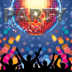 Party poster disco ball