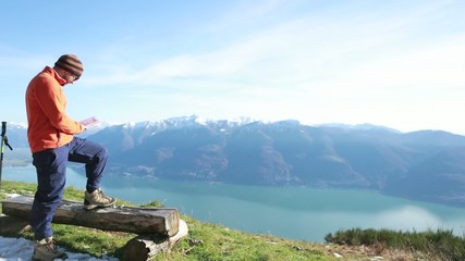 Getting away from it all-Freedom at top of mountain -
