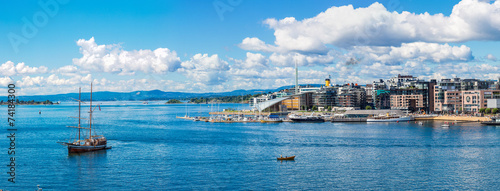 Oslo skyline and harbor. Norway - 74184300