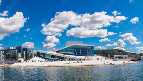 Foto op Canvas Scandinavië The Oslo Opera House