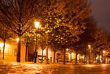 Prague park at night - 74184506