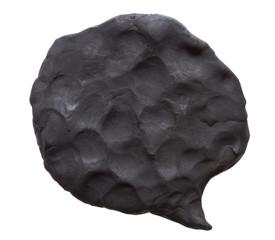 Black plasticine bubble