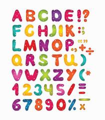 Colorful latin alphabet