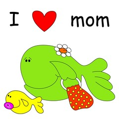 fish with mom