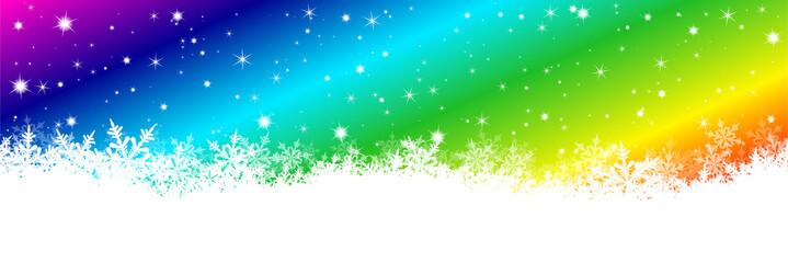 Hintergrund, Regenbogenfarben, Spektralfarben, Spektrum, Schnee