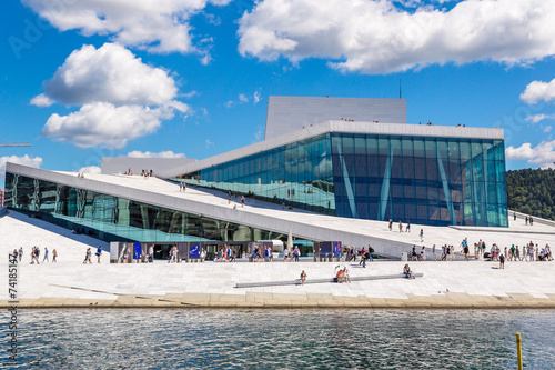 Leinwanddruck Bild The Oslo Opera House