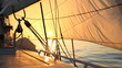 beautiful sun-filled sails at dawn - 74185349
