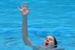 Drowning woman