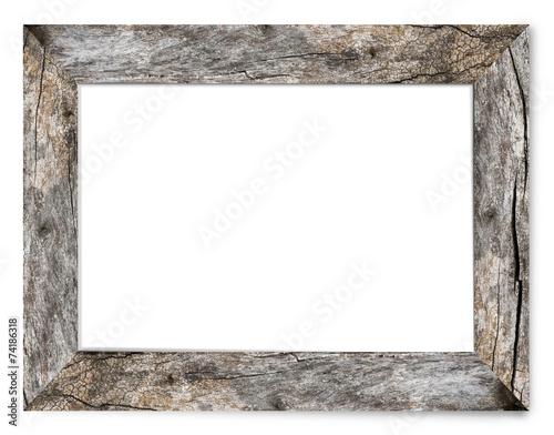 Leinwanddruck Bild Bark's Natural Wooden Picture Frame