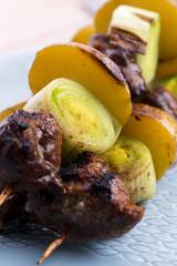 Grilled kebab (shashlik)