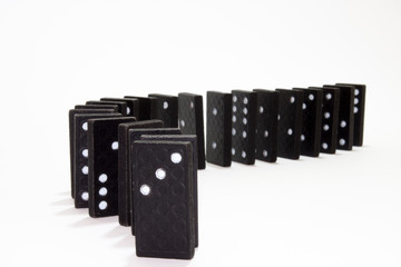 Dominoes in the row