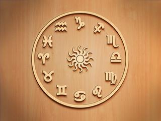 Zodiac - Tierkreis - Holz