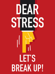 Word DEAR STRESS