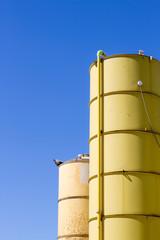 Two silos yellow