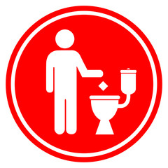 No littering in toilet