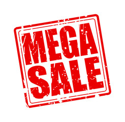 Mega sale red stamp text