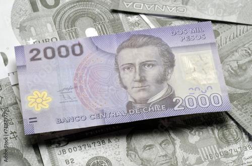 Peso Chileno Chilean Pesos Chilenischer Chile Money Currency