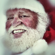 Portrait of smiling Santa Claus in authentic look.