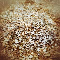 Huge treasure gold background