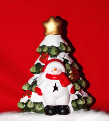 Snowman at the Christmas tree