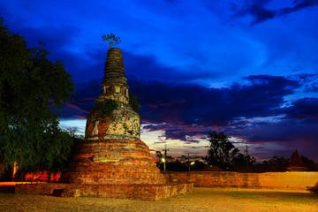 Ancient pagoda in dusk