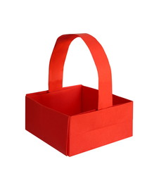 red origami basket