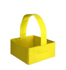 yellow origami basket