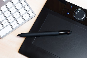 Pen Tablet and Keyboard