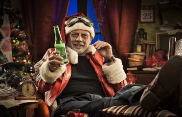Bad Santa having a bad Christmas