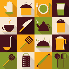 Utensils Icons set