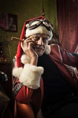 Bad Santa with cigar