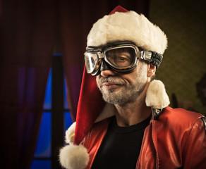 Bad Santa with goggles