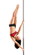 Young sexy pole dance woman - 74190524