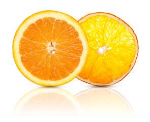 Dried and fresh orange fruit slice