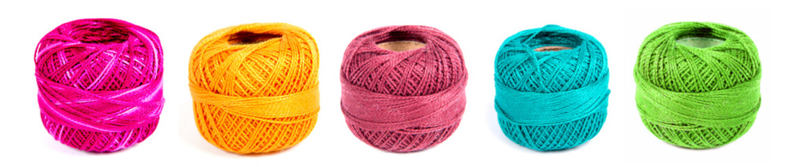five spools of thread for embroidery