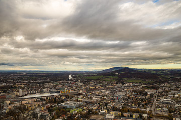 View of Salzburg from Kapuziner's Hill