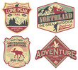 Wildlife exploration vintage patches - 74191542