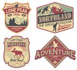 Wildlife exploration vintage patches - 74191542