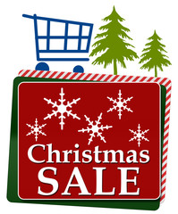 Christmas Sale Red Green Squares