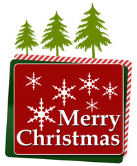Merry Christmas Red Green Rounded Squares