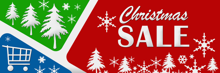 Christmas Sale Red Green Blue