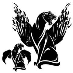 black winged panther